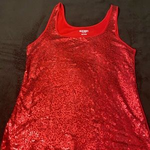 Plus size Old Navy Sequins Tank too